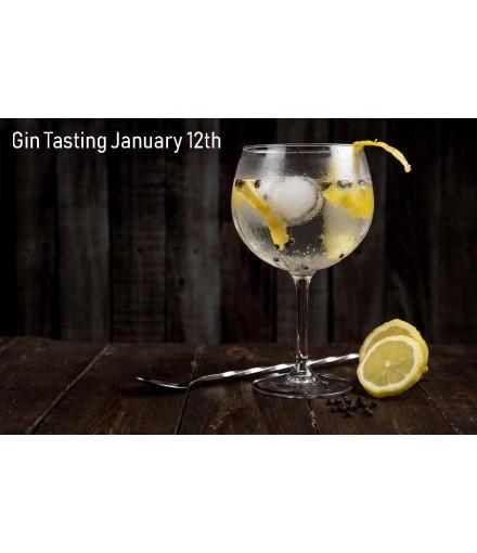 Tasting Gin Jan 12th