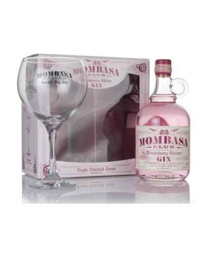 Mombasa Club Strawberry Gin with Glass Gift Set