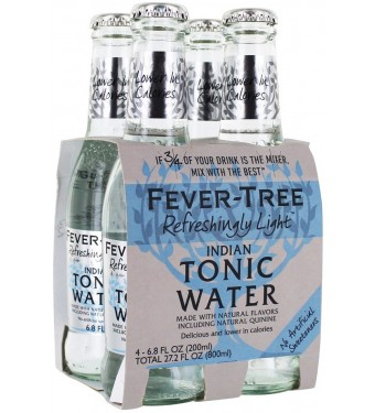 Fever Tree Naturally Light Indian Tonic Water (4 x 200ml)