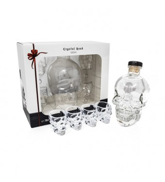 Crystal Head Vodka 4 Shot Glass Gift Set