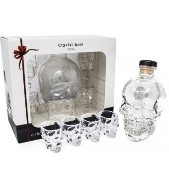 Crystal Head Vodka 4 Shot Glass Gift Set