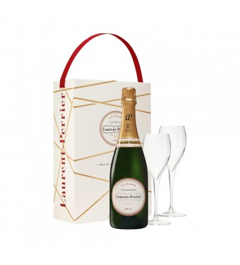 Laurent Perrier Brut with 2 Flutes Gift Pack