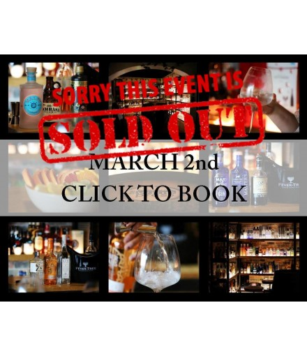 Tasting Gin the 2nd of March ****SOLD OUT*****