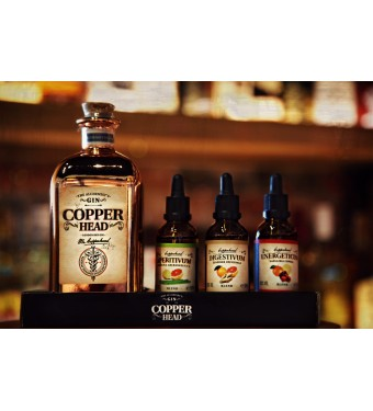 Copperhead Gin Gift Box with 3 blends