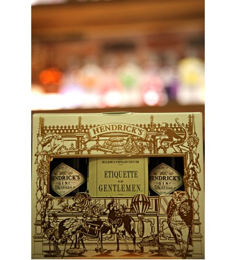 Hendricks 'Etiquette for Gentlemen' Gin Gift Set 2x5cl