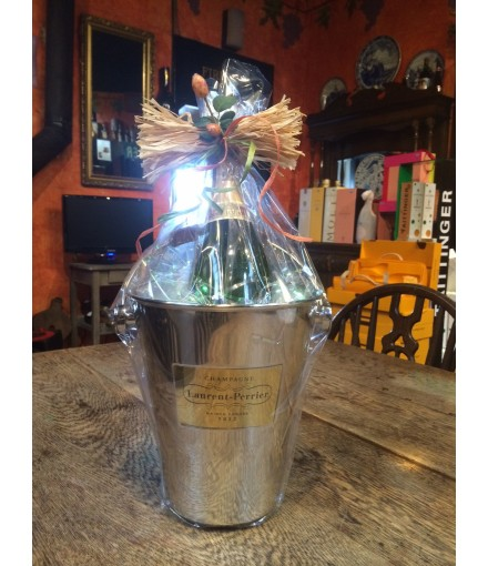 Hand Made Laurent Perrier Ice Bucket & Brut Champagne Gift
