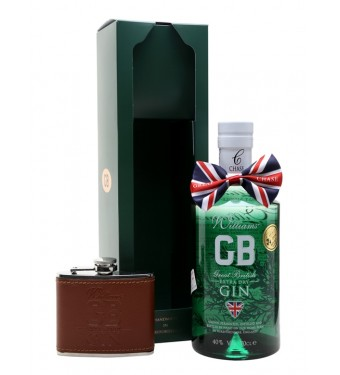 Williams GB Extra Dry Gin Hip Flask Gift Set