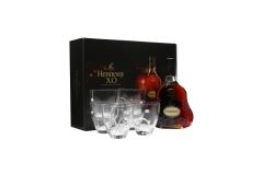 Hennessy XO Cognac & 6 Exclusive Thomas Bastide Glasses set